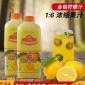 广村金桔柠檬味果汁饮料浓浆1.9L/桶超惠果汁柠檬浓缩果汁批发
