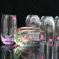 厂家直销彩色玻璃杯 无铅耐热水杯 透明玻璃水杯 办公室家用水杯